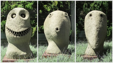 "Ugo Rondinone's ""Moonrise Sculptures"" at 555 Mission Street Plaza."