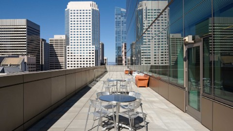 Roof terrace at San Francisco office building 555 Mission Street.